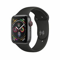 Apple Watch Gen 4 Series 4 Cell 44mm Space Gray Aluminum - Black Sport Band