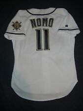 AUTHENTIC Russell Athletic HIDEO NOMO Milwaukee Brewers White Jersey 44 Dodgers