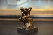 Signed: Rodin, Bronze statue THE THINKER sculpture Figurine The Poet