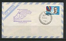 Argentina 1969 cover  Inaugural Air Service - LA to Buenos Aires balloon I667
