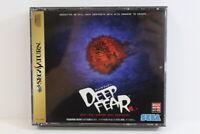 Deep Fear W/ Reg Card Flyer Sega Saturn SS Japan Import US Seller G7485