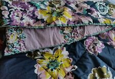 Steve Madden Home 3PC Twin Comforter Set Blake Floral Navy Purple Teal Yellow