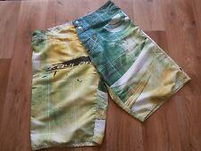 "Men's Kayland Green Graphic Print Board Shorts Size 32"" waist"
