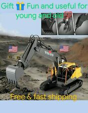 Volvo1:16 excavator digger toy DIY 3 in 1 toy with min metal drill truck