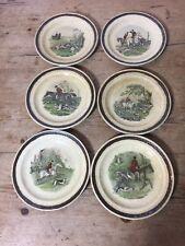 """6 Royal Worcester Palissy 'TheFamous Herring Hunting Scenes' tableware 6 3/4"""""""