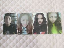 Lot of 4 f(x) FX 4th Album 4 WALLS Photocard Full Set KPOP SMTOWN