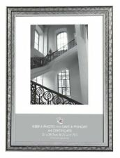 6 X A4 Certificate Silver Swirl Photo Picture Frames Standing Wall Frame