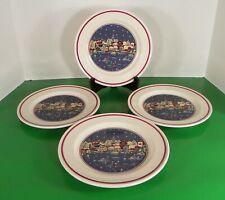 Oneida HOLIDAY HARBOR Salad or Dessert Plate (s) LOT OF 4 Christmas
