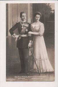 Carte Postale Vintage Prince & Princesse Août Wilhelm Of