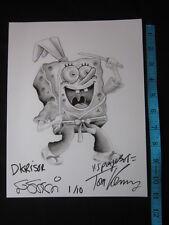 SpongeBob SquarePants as Usagi Yojimbo Art Print Signed TOM KENNY and STAN SAKAI