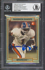 Broncos Shannon Sharpe Signed 1990 Action Packed Rookie Update #46 Card BAS Slab