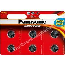 6 x Panasonic CR2032 3V Lithium Coin Cell Battery 2032
