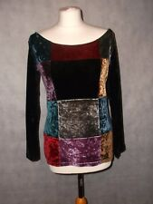 MOSCHINO velvet hippie style scoop necked top UK 12
