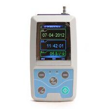 24h Ambulatory Blood Pressure ABPM Holter NIBP MAPA Monitor +2 cuffs Color Sreen