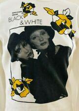 MONDI VINTAGE SUPER FAB TUNIC *GENTLEMEN PREFER BLACK AND WHITE* GERMANY 36 L@@K