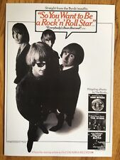 """THE BYRDS """"SO YOU WANNA BE A R&R STAR"""" LIMITED EDITION BILLBOARD AD PROMO POSTER"""