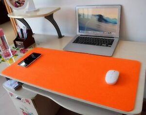 Mouse Pad Desk Mat Woolen Leather Computer Gaming Wrist Warmth Rest Organizer