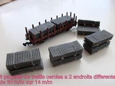 8 PAQUETS DE TREILLIS EN ' N ' DE 30 M/M SUR 14 M/M POUR TRAINS ELECTRIQUES