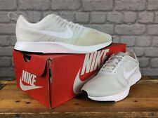 NIKE UK 5.5 EU 38.5 WHITE GREY DUALTONE RACER TRAINERS CHILDRENS LADIES GIRLS