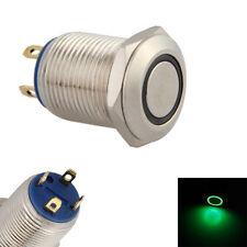 Auto 12mm Grün LED-Licht 2A Momentaner Druckschalter Wasserdichtes Umschalten