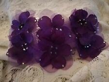 Three Purple Flower Sidecombs