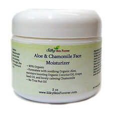 Aloe Vera Chamomile Face Moisturizer Cream Coconut Grapeseed Organic Sensitive