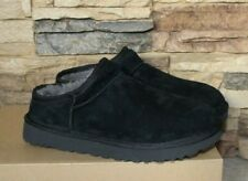 NIB UGG CLASSIC Water Resistant Suede Shearling Slippers Black