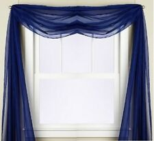 "1 SCARF VALANCE SHEER FABRIC ELEGANT WINDOW CURTAIN DRAPE 35""X216"" ROYAL BLUE"