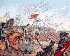 BATTLE OF HASTINGS 1066 ENGLAND WILLIAM CONQUEROR PAINTING WAR ART CANVASPRINT
