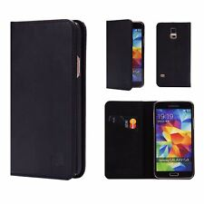32nd Classic Series - Real Leather Book Wallet Flip Case Cover for Samsung Galax