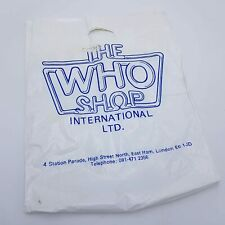 Vintage DOCTOR Who 'The Who Shop' Carrier Bag - Fair Condition 1980's Logo