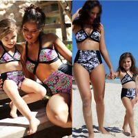 Family Matching Mother Daughter Women Girl Bikini Bathing Swimsuit Swimwear