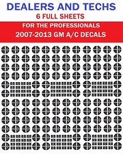 CHEVY GMC Button Decals Stickers Climate Control A/C Radio Chevrolet Gmc