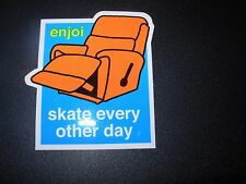 "ENJOI Skate Every Other Day Sticker 3.25 X 3"" greatfor skateboards helmets decal"