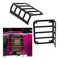 2PCS For 07-17 Jeep JK Wrangler Stainless Metal Tail Light Lamp Guard Covers