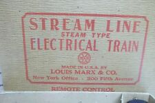 Vintage LOUIS MARX Stream Line Steam Type Electric Train Set 25219 NY CENTRAL