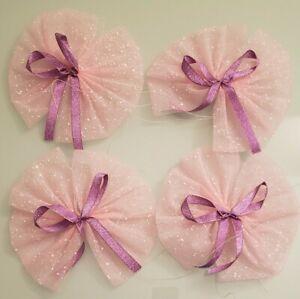 4 Car Wedding Decoration Flower Bow Garland Party Novel Pink Gift Modern Ribbon