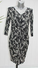M&S Collection Size 10  Regular Draped Slouch Tunic Dress Bnwt Black/White