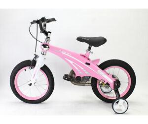 "Kids Bicycle 14"" frame Boys & Girls 4-6 Yrs Training Wheels Aluminium PINK TR14"