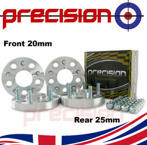 1 Pair of 20mm Bolt-On Wheel Spacers for Ĵaguar XF 2008-2020 PN:2BS10127