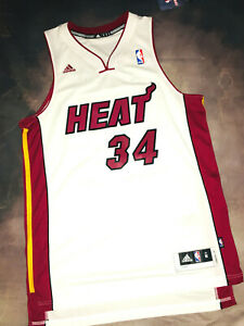 100% Authentic Adidas Miami Heat Ray Allen Jersey SZ Medium Home Swingman
