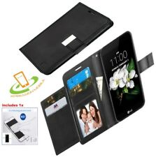 Samsung Galaxy J3 2018 Leather Wallet Dual Flip Case Protective Cover +Kit BLACK