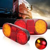 2x LED Truck Tail Trailer Stop Light Lamp Submersible Indicator For Jet Ski