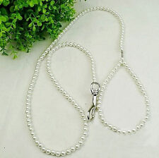 110cm Luxury Pearls Pet Dog Chain Leash Puppy Walking Lead Toy Gift