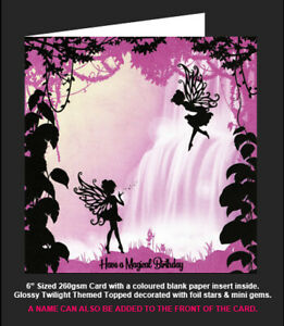 Hunkydory Once Upon a Twilight 'Fairies at the Waterfall' Magical Birthday Card