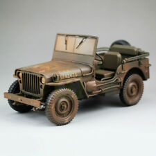 """1/18 Willly Jeep US Army Olive Green for 3.75"""" scale with Acid Rain diecast WWII"""