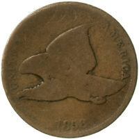 1858 Flying Eagle Cent Small Letters About Good Penny AG