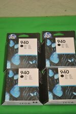 4 x cartuchos Negra HP 940 Officejet PRO 8000 8500 C4902AE fecha 2011 Original