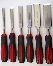 6 piece Firmer Wood Chisel Set 10mm, 13mm, 19mm, 25mm, 32mm, 38mm Wood working