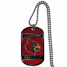 """louisville cardinals licensed college football necklace dog tag 26"""" chain"""